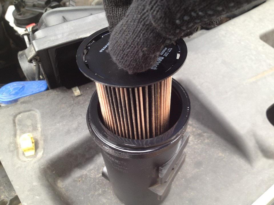 Забитый масялный фильтр