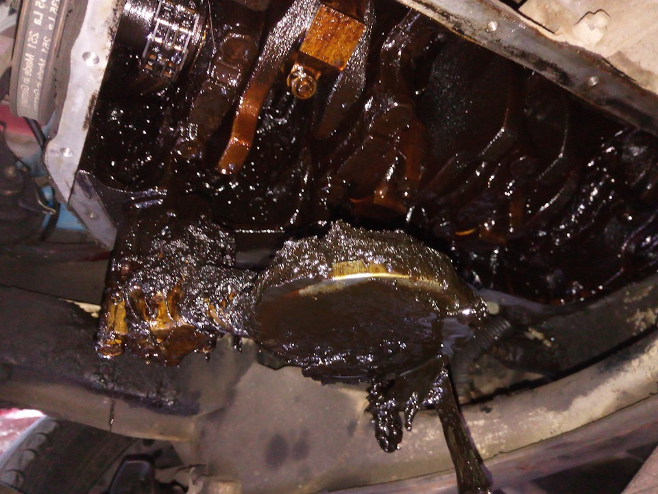 Результат остатков масла в поддоне двигателя
